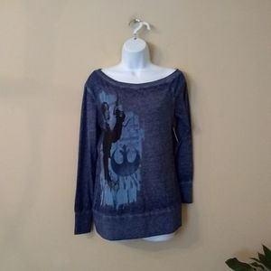 Disney Parks New Star Wars blue long sleeve top